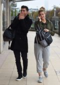 Gemma Atkinson and Aljaz Skorjanec spotted leaving Key 103 radio station in Manchester, UK