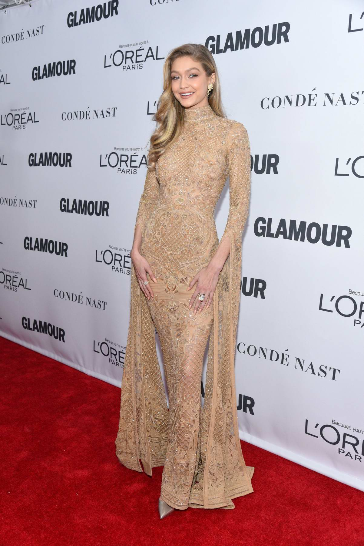 Gigi Hadid at the Glamour Women Of The Year Awards in New York