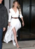 Gigi Hadid leaves her apartment and heads to 'The Tonight Show Starring Jimmy Fallon', New York