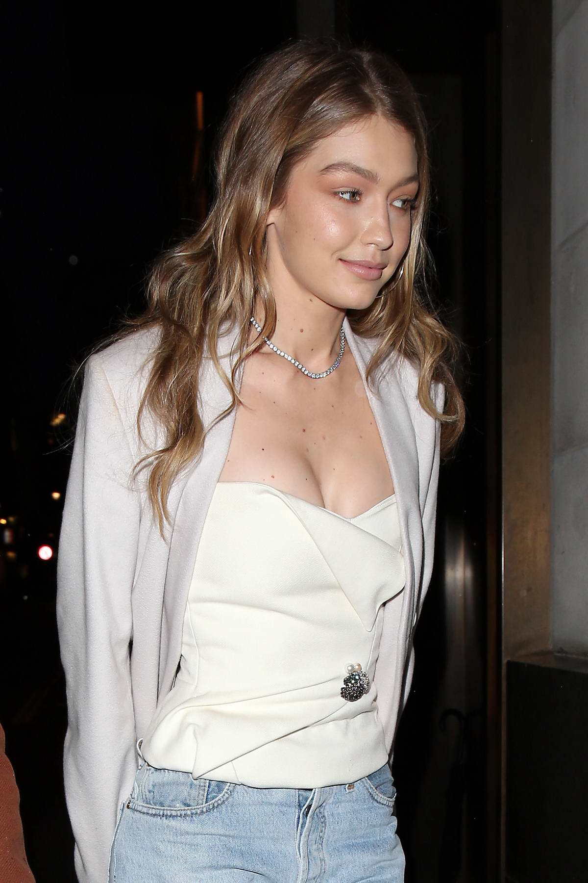 Gigi Hadid seen at the 'Gigi Hotel', a pop-up venue for her Gigi X Maybelline VIP party in London