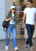 Gillian Jacobs goes shopping with her family in Los Angeles