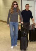 Gisele Bundchen arrives at Guarulhos airport in Sao Paulo, Brazil