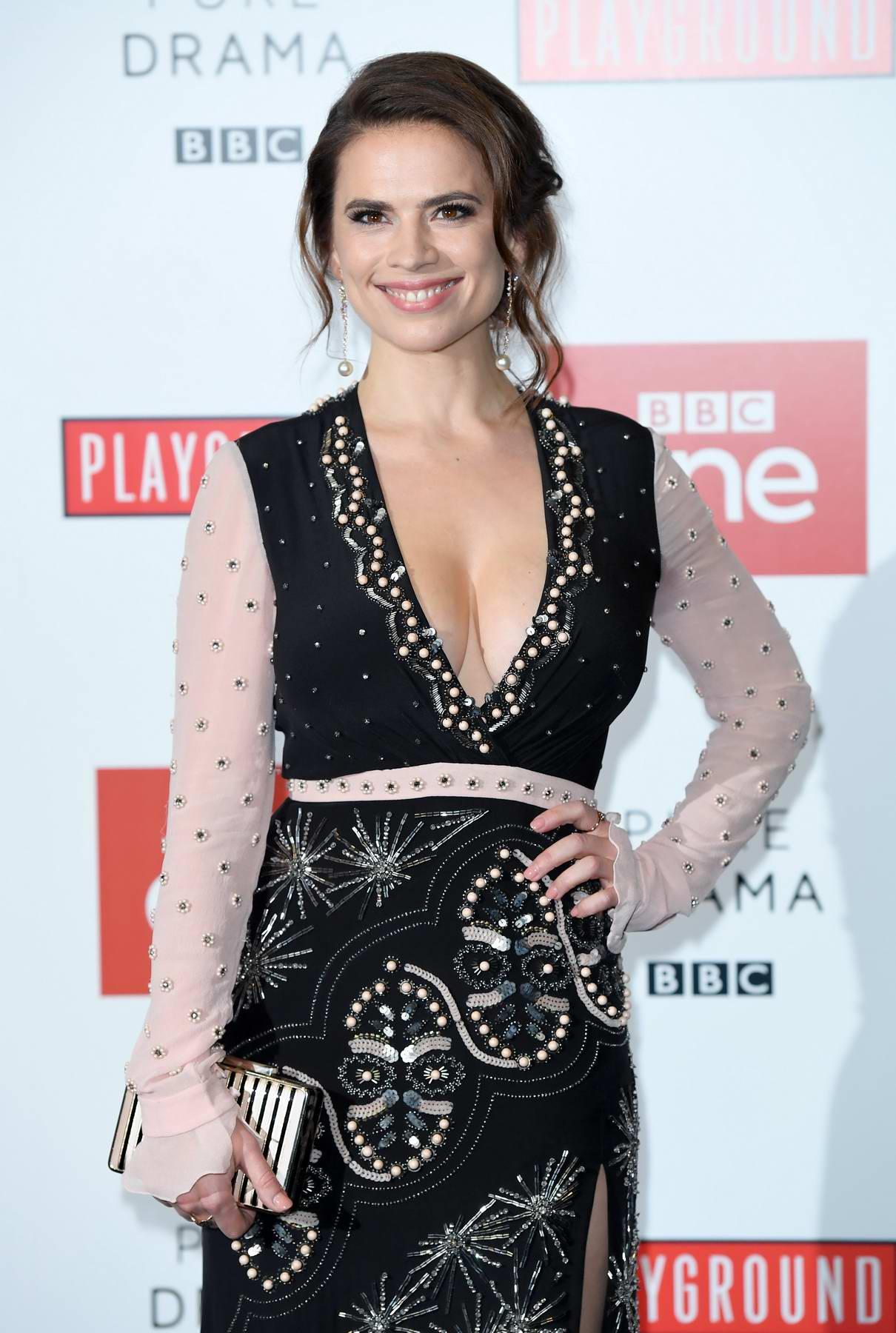 Hayley Atwell at the 'Howard's End' photocall at BFI Southbank in London