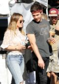 Hilary Duff and Matthew Koma visit the farmers market in Los Angeles
