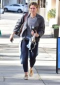 Hilary Duff leaving after a workout session at Training Mate gym in Studio City, Los Angeles