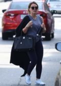 Hilary Duff seen leaving the gym with friends after a morning workout in Studio City, Los Angeles