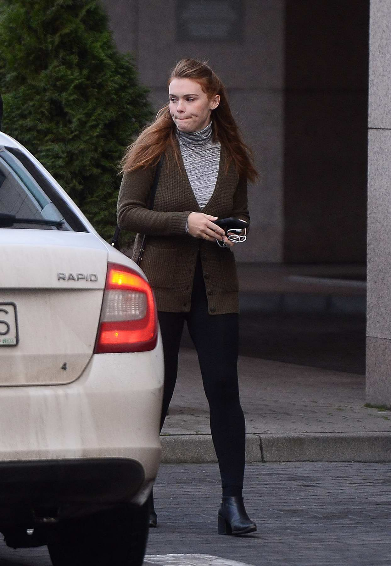 Holland Roden spotted leaving a hotel in Warsaw, Poland