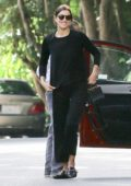 Irina Shayk in all black out in Pacific Palisades, Los Angeles