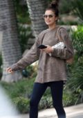 Irina Shayk is pictured while leaving a gym in Los Angeles