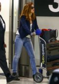 Isla Fisher seen arriving at Miami Airport, Miami, Florida