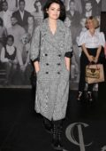 Jaimie Alexander dressed in a tweed coat spotted while leaving Catch restaurant in West Hollywood, Los Angeles