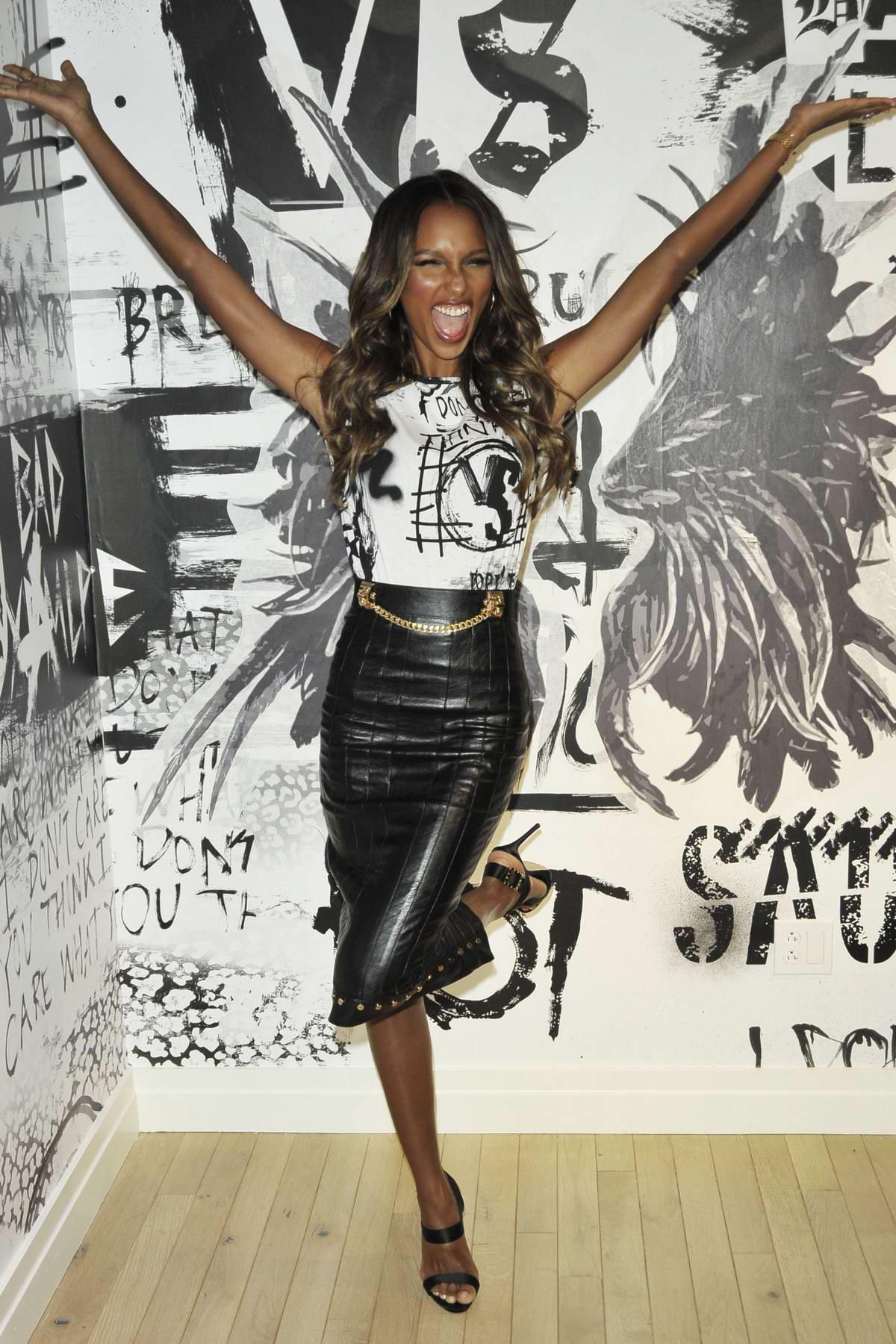 Jasmine Tookes at Victoria's Secret Fashion Show and the new VS X Balman in New York City