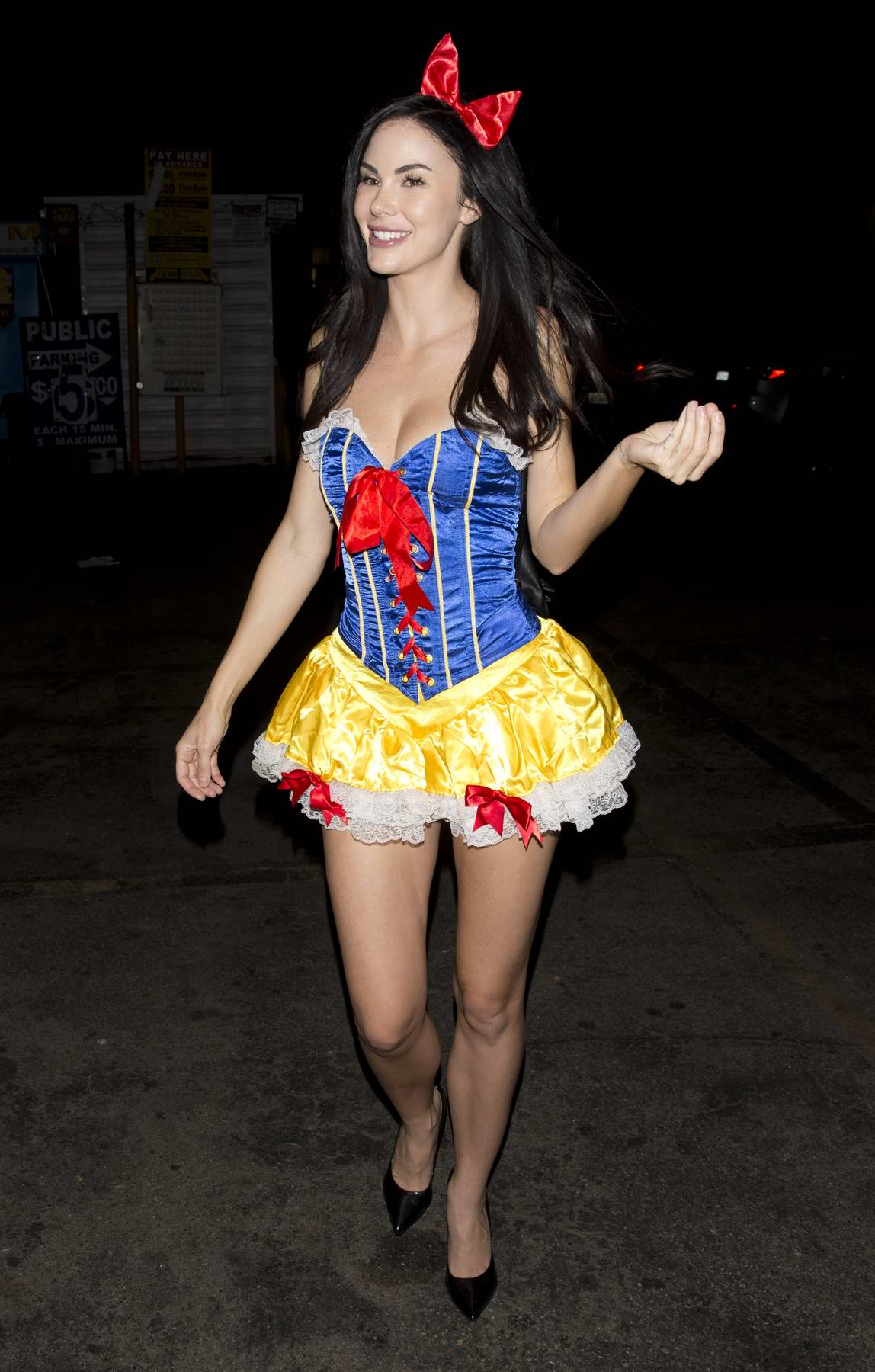 Jayde Nicole in her Halloween costume leaves a private party in Sherman Oaks, Los Angeles