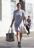 Jennifer Garner leaves the church with her kids in Los Angeles