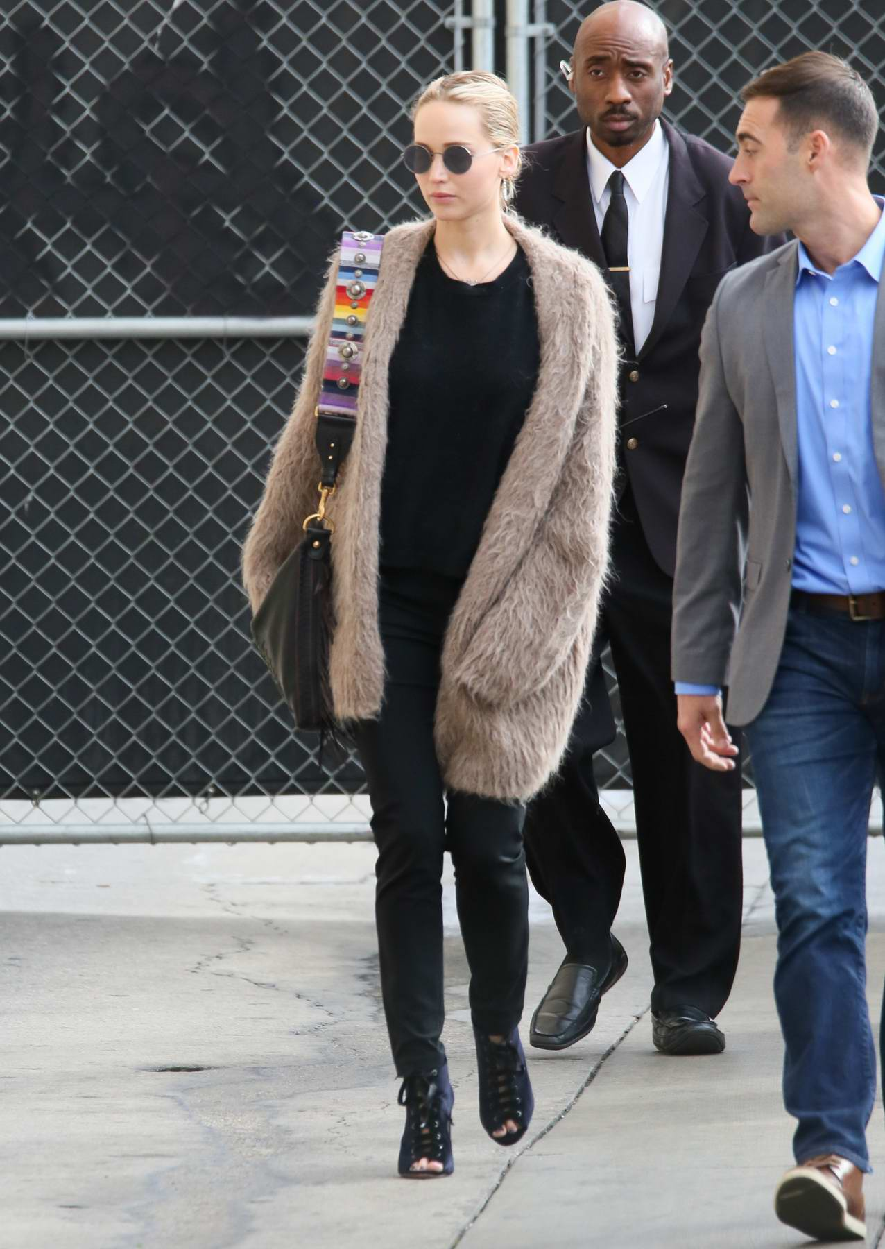 Jennifer Lawrence arriving at 'Jimmy Kimmel Live' in Los Angeles