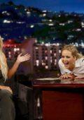 Jennifer Lawrence guest hosting Kim Kardashian on 'Jimmy Kimmel Live' in Los Angeles