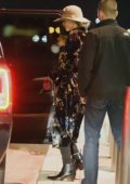 Jennifer Lawrence leaves JFK Airport on a SUV in New York City