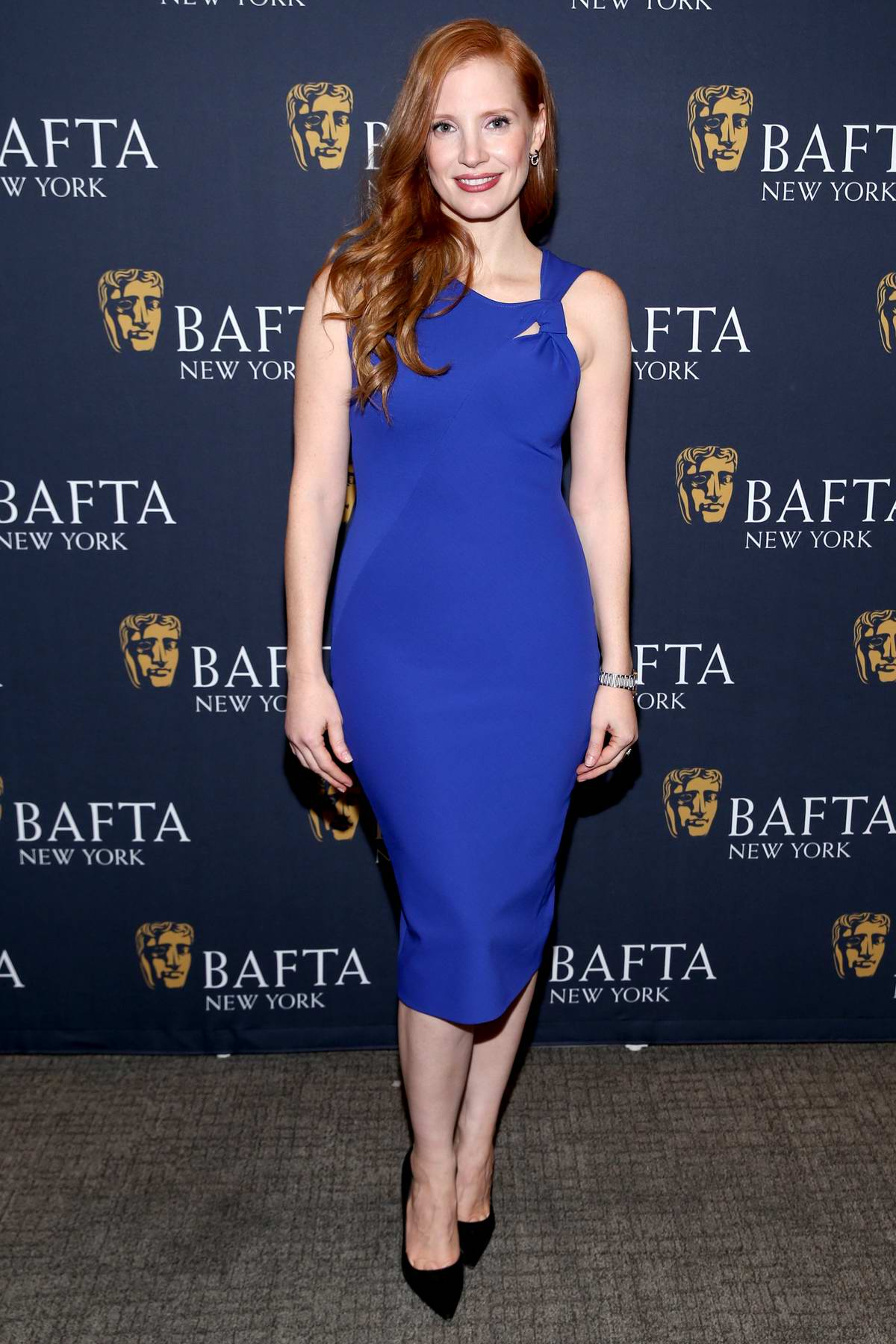 Jessica Chastain at the 'Molly's Game' BAFTA film screening in New York