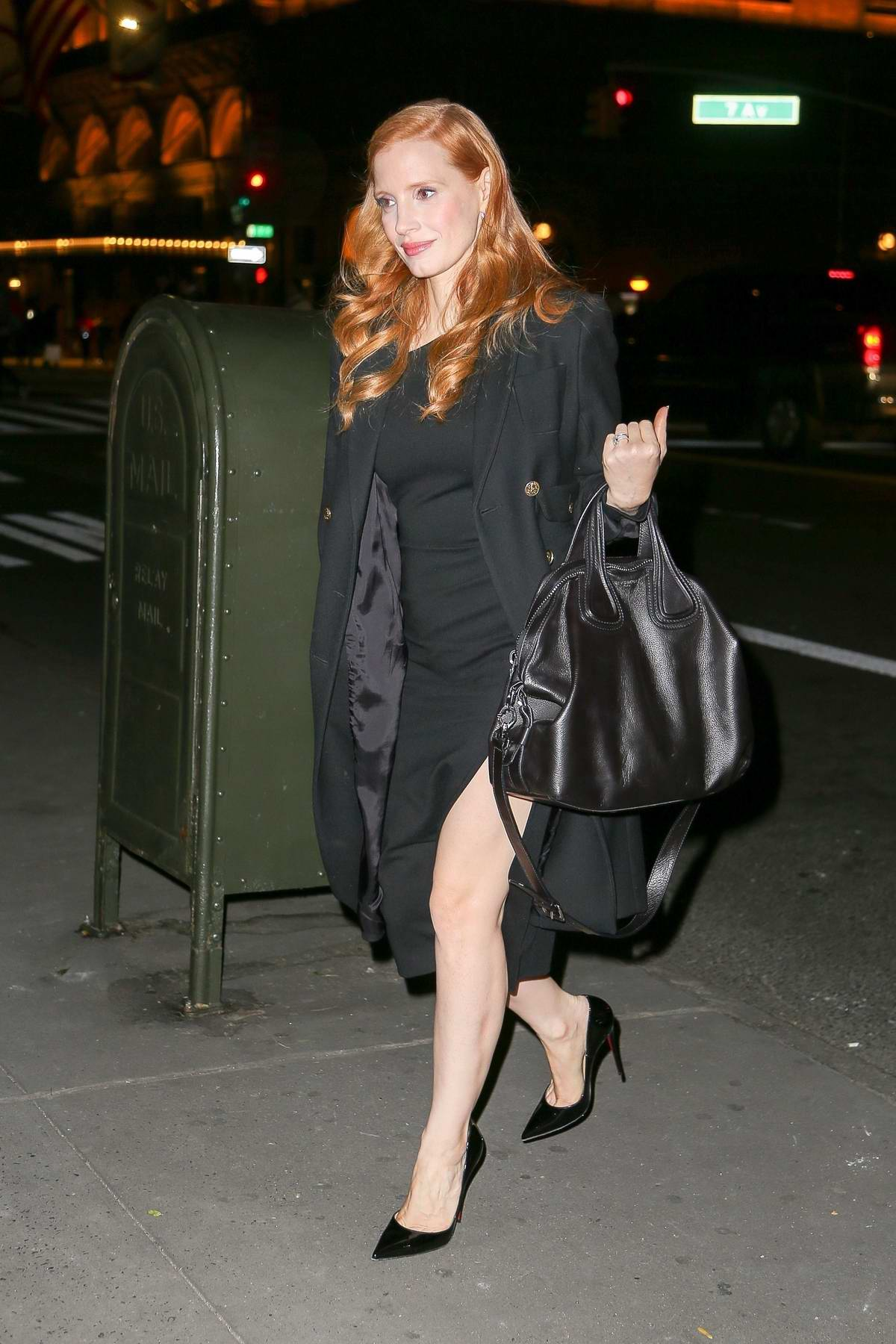 Jessica Chastain seen out and about, after her appearance at 'The Tonight Show Starring Jimmy Fallon' in New York City