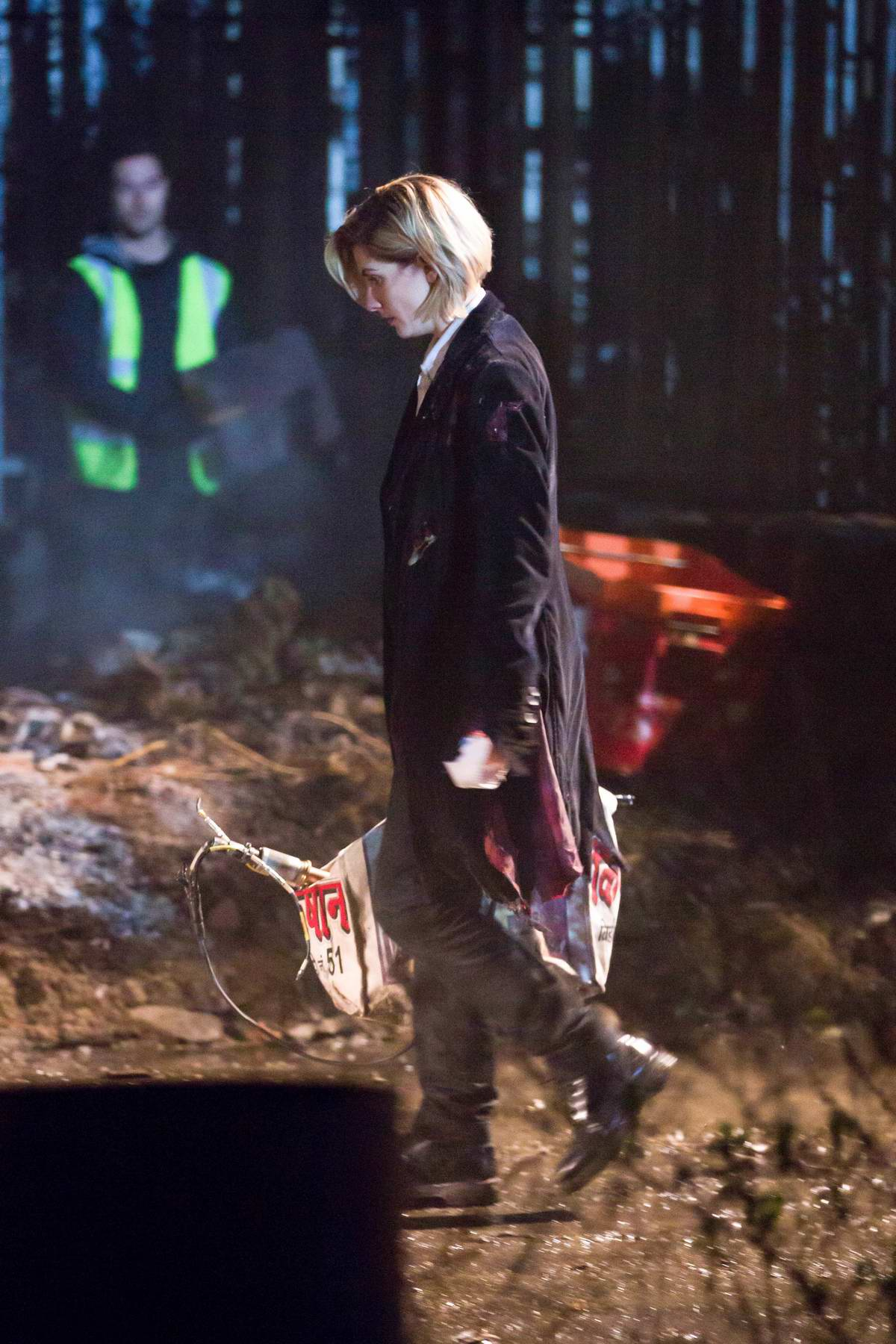 Jodie Whittaker filming for the first time for 'Doctor Who' in Sheffield, UK