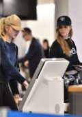 Josephine Skriver and Romee Strijd spotted at LAX Airport, Los Angeles
