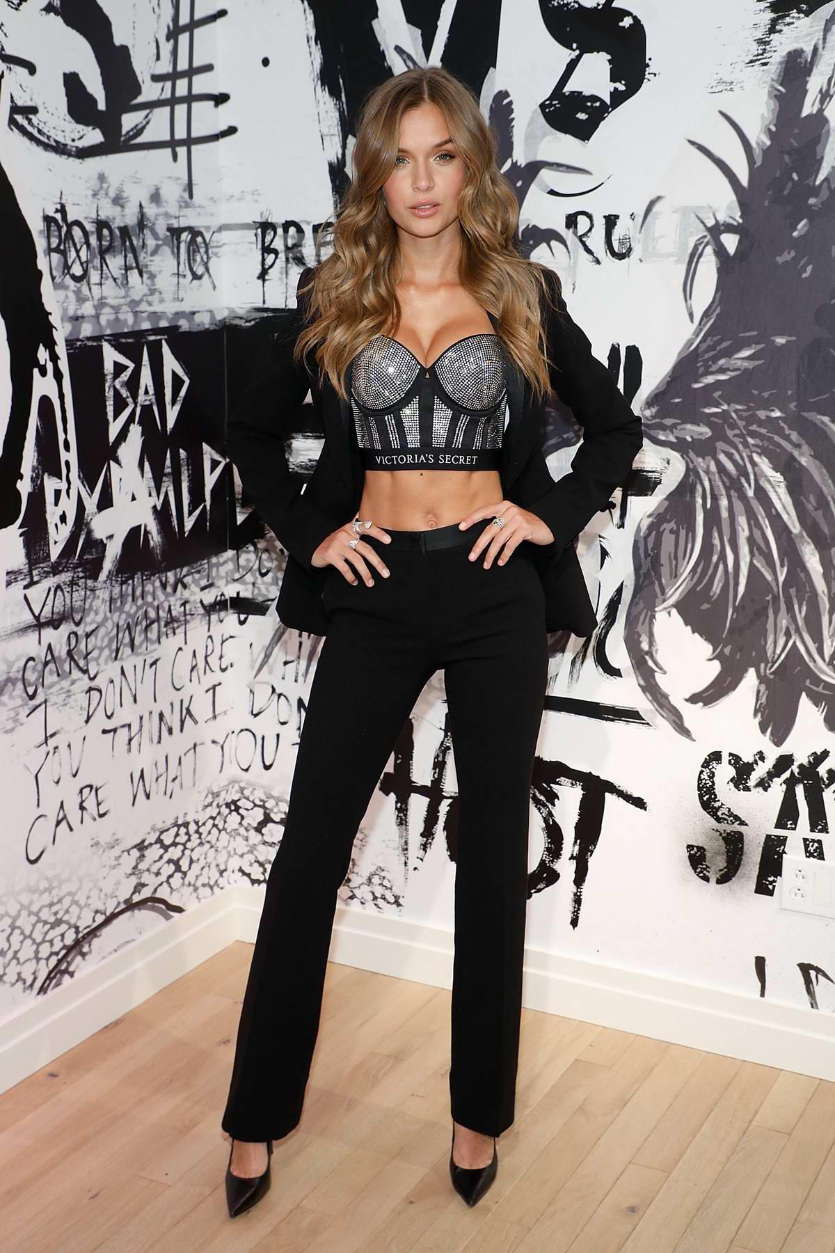 Josephine Skriver at Victoria's Secret Fashion Show and the new VS X Balman in New York City