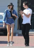 Kaia Gerber spotted out and about with a guy friend in Malibu, California