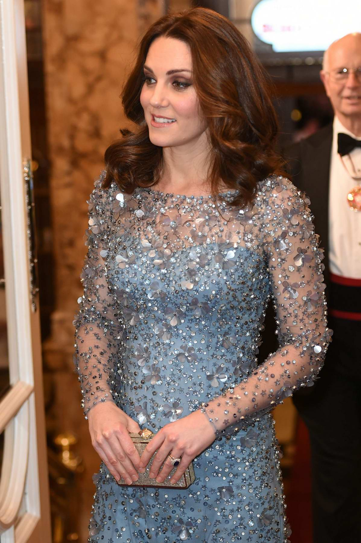 Kate Middleton attend the Royal Variety Performance at the Palladium Theatre in London