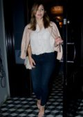 Katharine McPhee and David Foster leaving after dinner at Craigs in Los Angeles