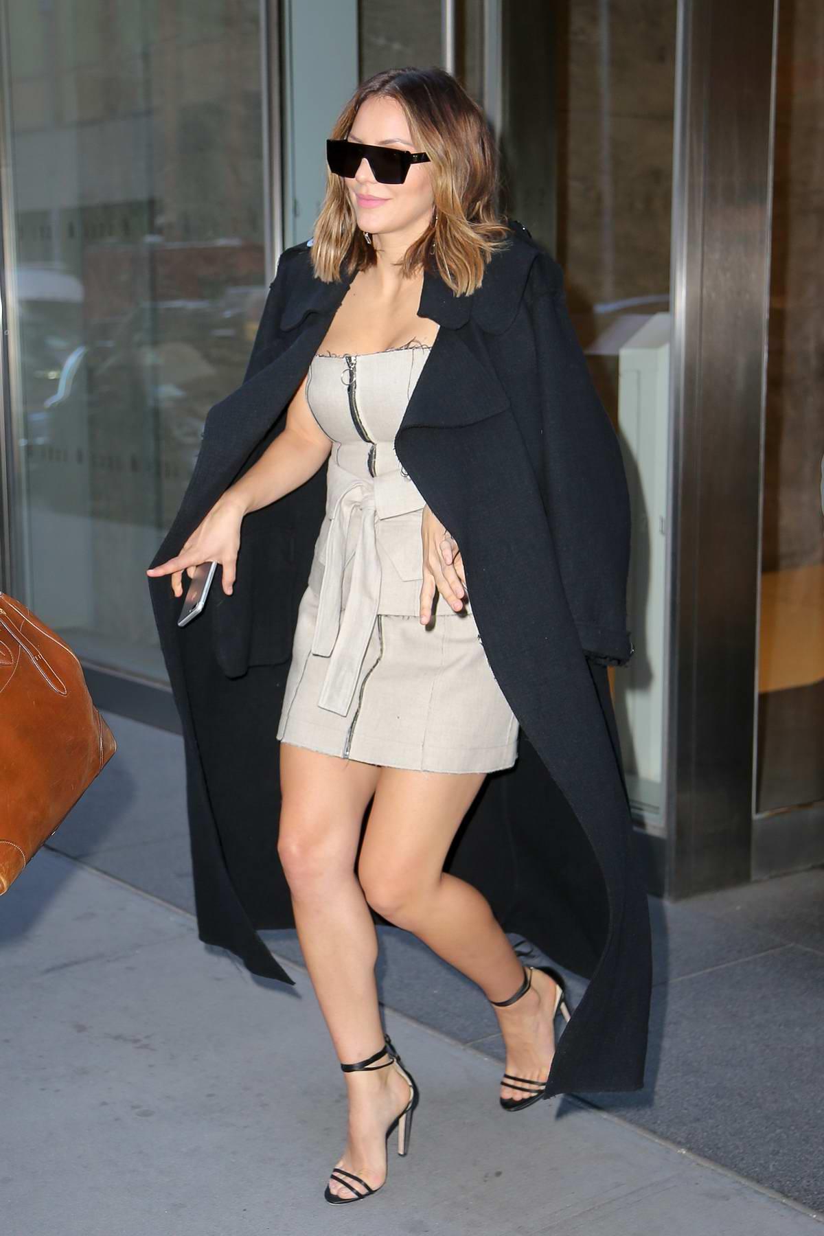 Katharine McPhee spotted leaving the SiriusXM studios in New York City