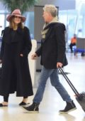 Katherine McPhee and David Foster arrive at JFK airport in New York City