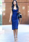 Kelly Gale arrives at Sunrise for a Television interview in Sydney, Australia