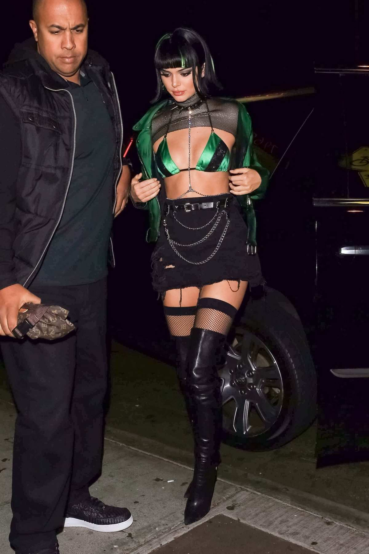Kendall Jenner attend a Halloween party in West Hollywood, Los Angeles