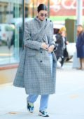 Kendall Jenner wore a Balenciaga coat, while out and about in New York City