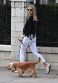 Kimberley Garner takes a stroll on the Kings Road in Chelsea, UK