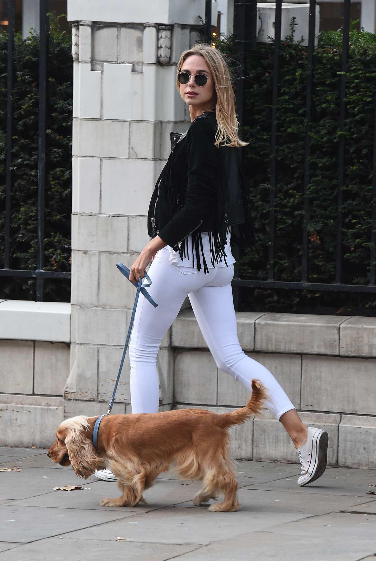 Kimberley Garner takes a stroll on the Kings Road in Chelsea, UK