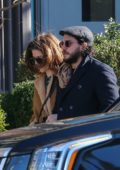 Rose Leslie and fiance Kit Harington are pictured on a stroll in New York City
