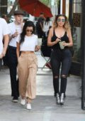 Kourtney Kardashian and Larsa Pippen get detox tea's after lunch at Cecconi's in West Hollywood, Los Angeles