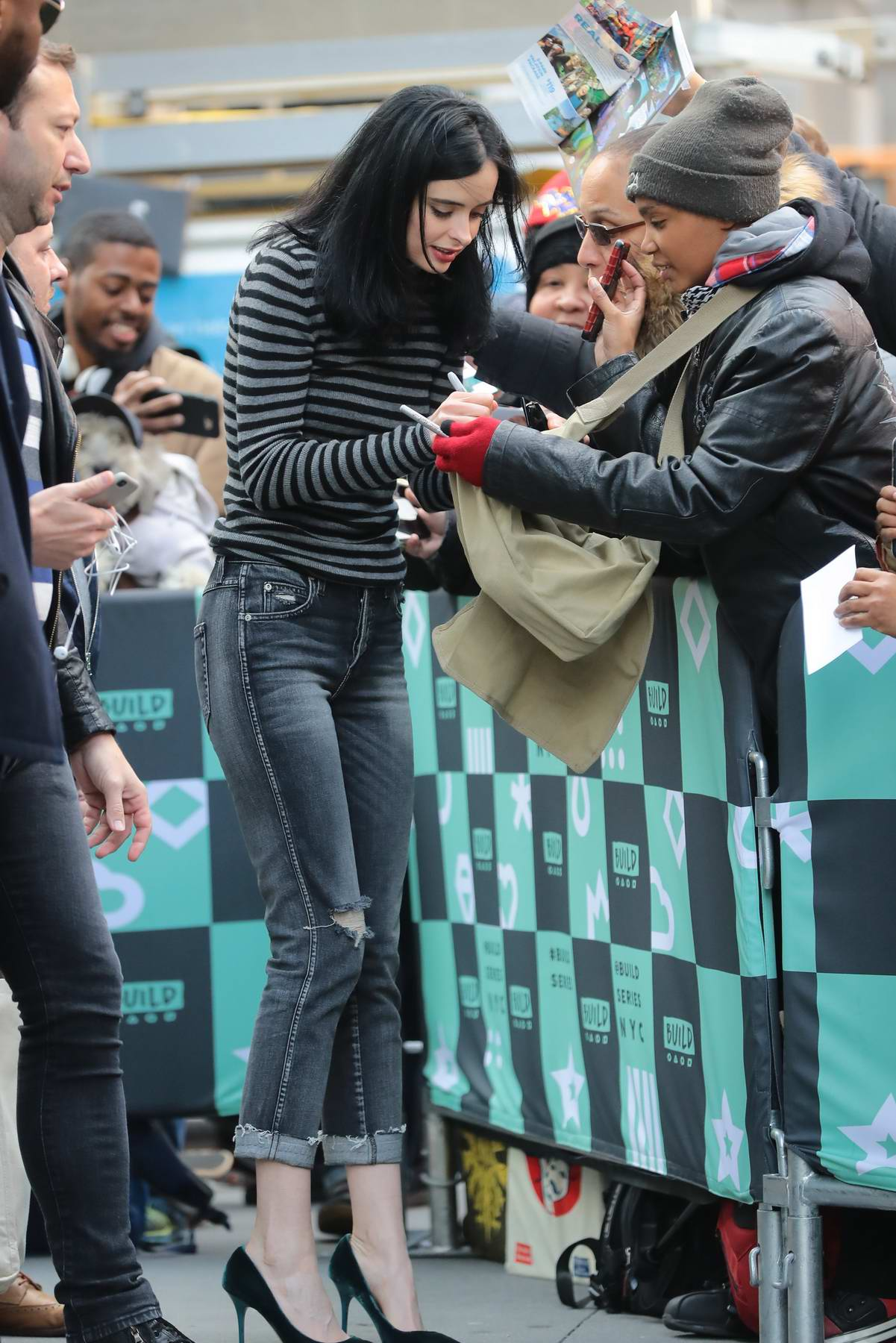krysten ritter arrives to the fan event for her new book ...