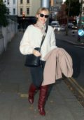 Kylie Minogue was spotted in a high knee boots while out in Central London