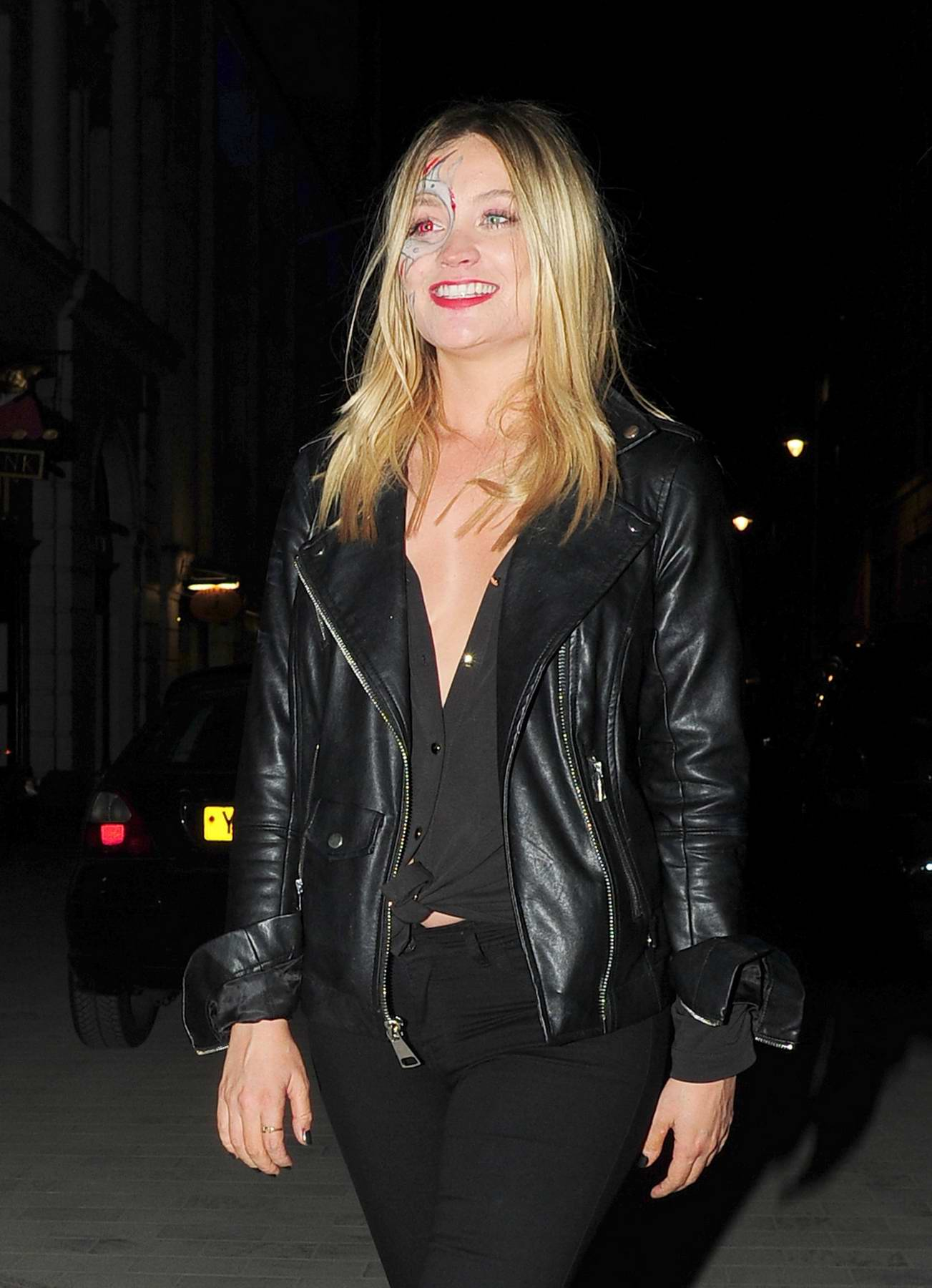 Laura Whitmore at Jonathan Ross 2017 Halloween party in London
