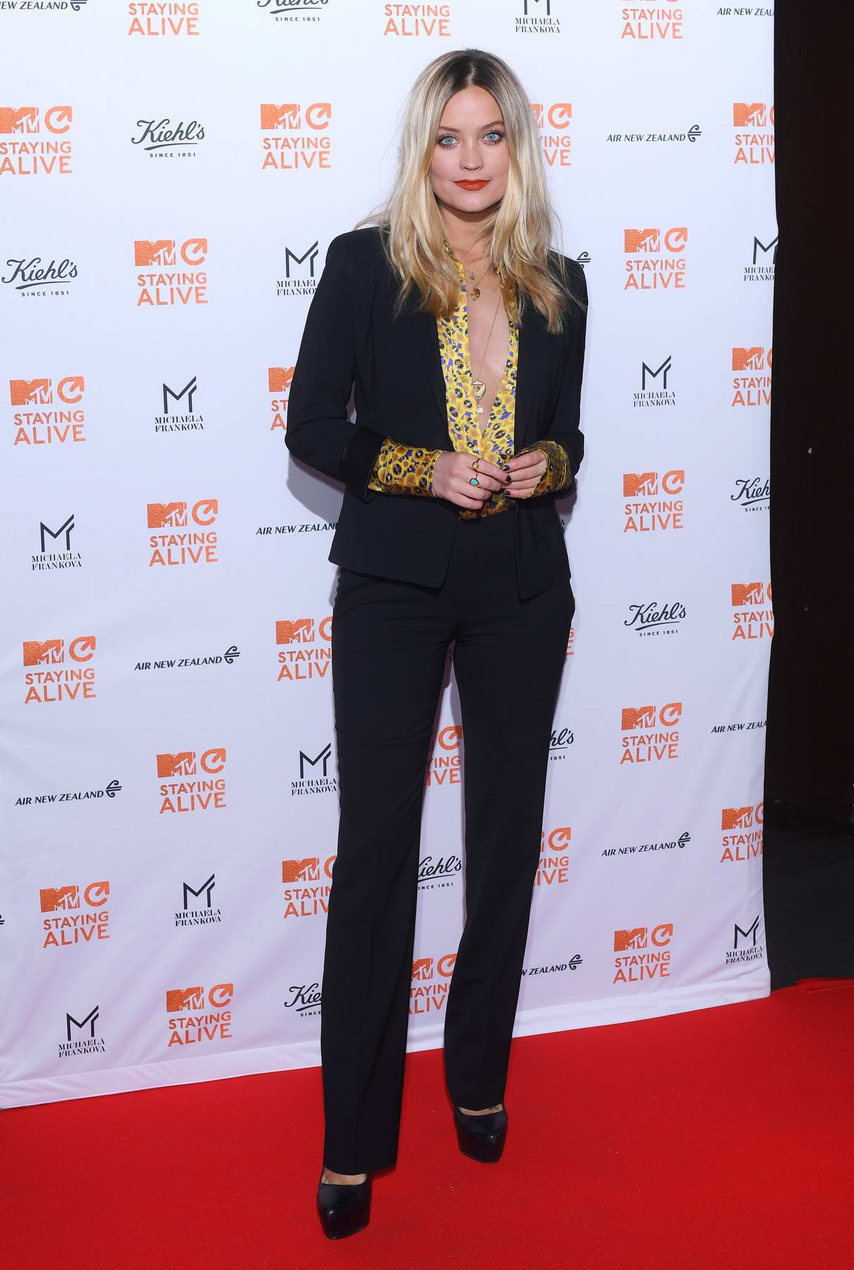 Laura Whitmore attends the MTV Staying Alive Gala at 100 Wardour Street in London