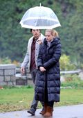 Lili Reinhart and Cole Sprouse film scenes for 'Riverdale' in Canada
