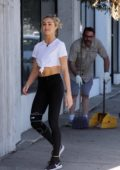 Lindsay Arnold arrives for another day of dance practice in Hollywood, Los Angeles