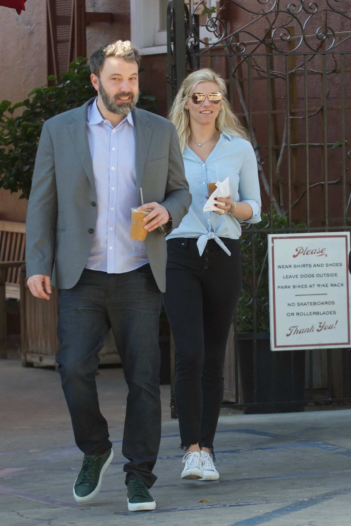 Lindsay Shookus and Ben Affleck grab lunch together in Brentwood, Los Angeles