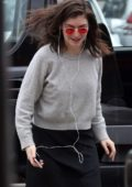 Lorde spotted while departing Perth airport in Perth, Australia