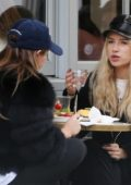 Lottie Moss and Mimi Bouchard grab lunch at cafe in London