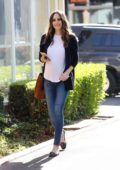 Louise Roe spotted as she leaves Drybar in West Hollywood, Los Angeles