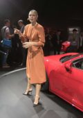 Maria Sharapova attends the unveiling of the 2018 Porsche 718 Cayman GTS at the Los Angeles Auto Show in Los Angeles