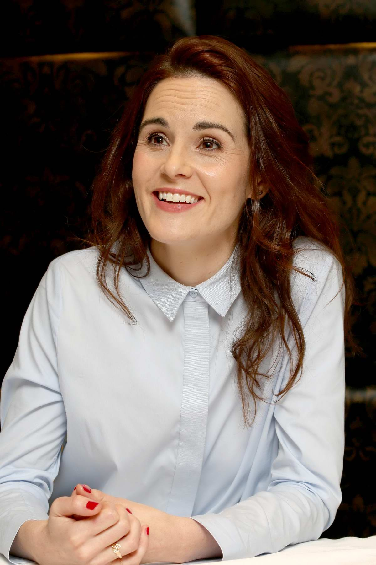 Michelle Dockery at 'Godless' press conference in London
